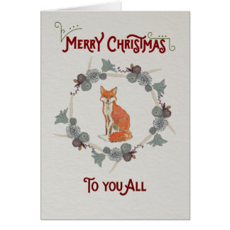 Christmas Card featuring a fox