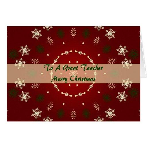Christmas Card For A Great Teacher