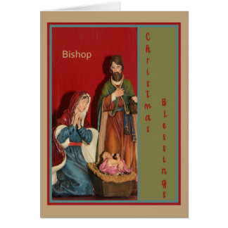 Christmas Card for Bishop with Manger