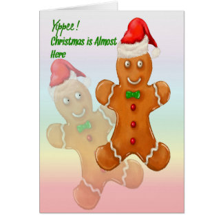 Christmas Card for Children with Gingerbread Men