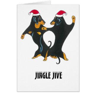 Christmas card for dachshund lovers