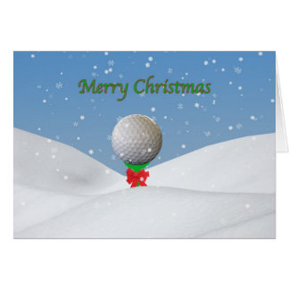 Christmas Card for Golfer