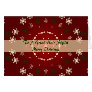 Christmas Card For Hair Stylist