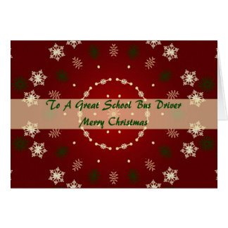 Christmas Card For School Bus Driver