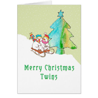 Christmas Card for Twin Children