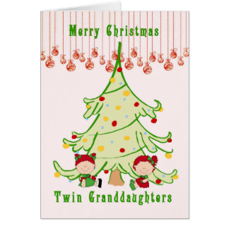 Christmas Card for Twin Granddaughters