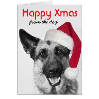 Christmas Card German Shepherd