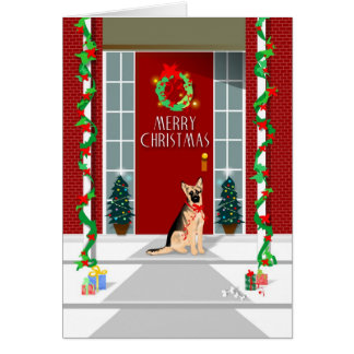 Christmas Card - German Shepherd Christmas