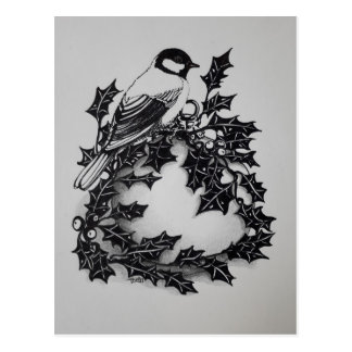 Christmas card great tit