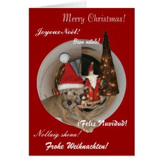 "Christmas card ""Irish Terrier """