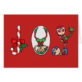 Christmas Card--Joy Elves Card