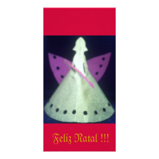 Christmas card Kirigami Angel Custom Photo Card