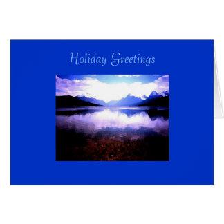 Christmas Card, Lake McDonald Glacier NP Card
