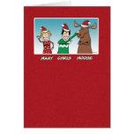 Christmas card: Mary Chris Moose