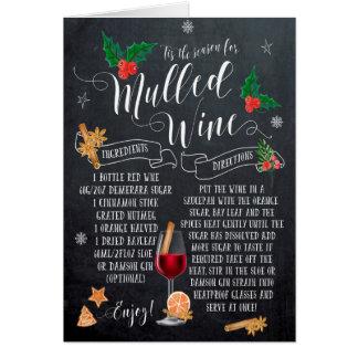 christmas card mulled wine recipe chalkboard