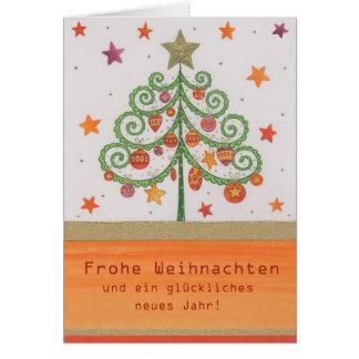 Christmas card multicolored fir tree
