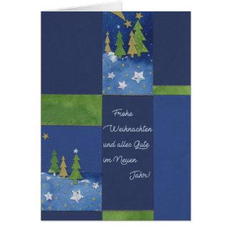Christmas card of the Green fir tree