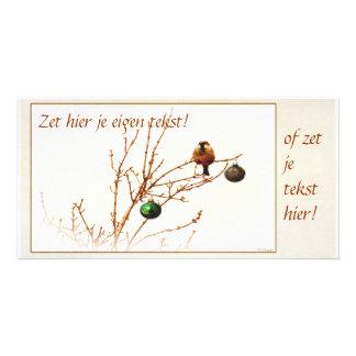 Christmas card/photograph card - just himself your