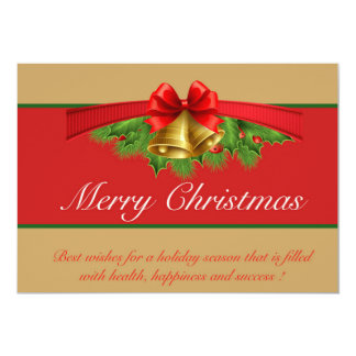 Christmas Card Red Gold
