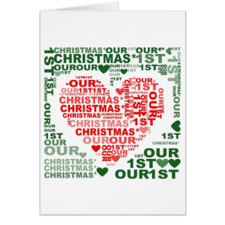 Christmas Card - Red Green Let It Snow Heart