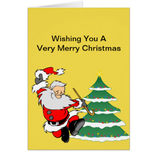 Christmas Card  Santa and Elf