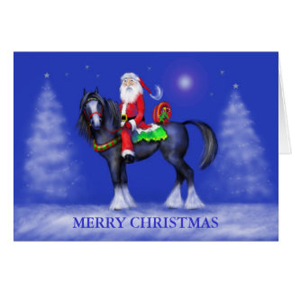 Christmas Card - Santa on Horseback