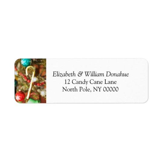 Christmas Card Self Addressed Label Return Address Label