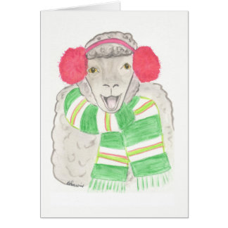 Christmas card, sheep card