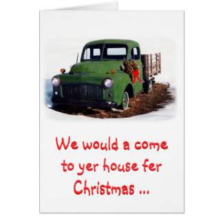 Christmas Card-Snazzy New Pickup Card