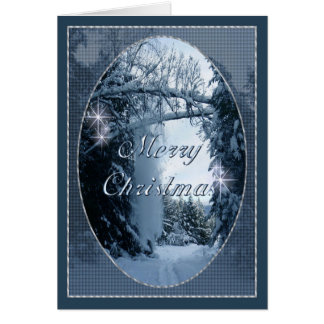 """Christmas Card """"Snow falling from Cottonwoods"""""""