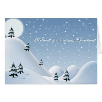 Christmas Card Snowy Mountains