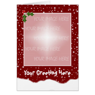 Christmas Card Snowy Template - Vertical