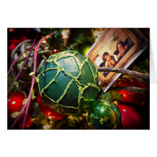 Christmas card - the green ball