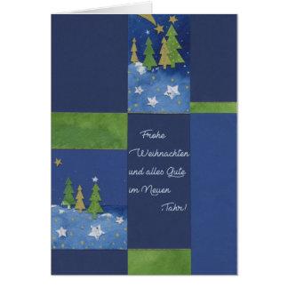 Christmas card the Green of fir trees