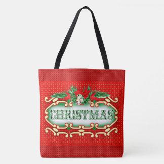 CHRISTMAS CARD TOTE CUTE CARTOON TOTE BAG