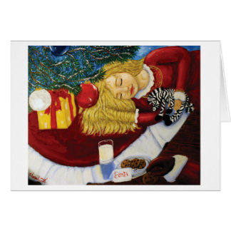 Christmas Card -Waiting For Santa