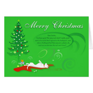 Christmas Card - White German Shepherd