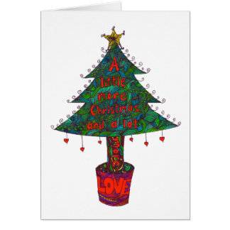 Christmas card with a different kind of tree