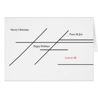 Christmas Card with Line Design