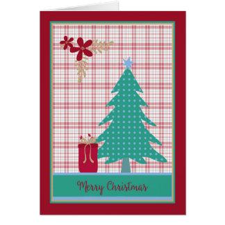 Christmas Card with Polka Dot Tree & Present