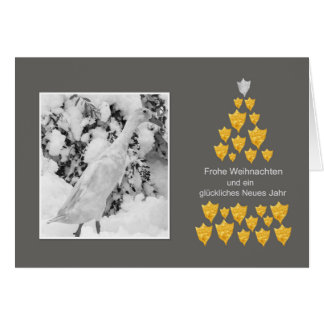 Christmas card with run duck