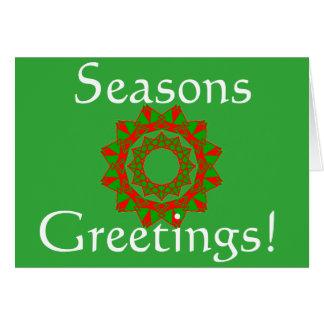 Christmas Card with Seasons Greetings