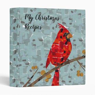 Christmas Cardinal bird collage Binder