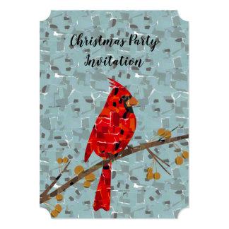 Christmas Cardinal bird collage Card