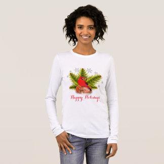 Christmas Cardinal Bird Holiday T-Shirt