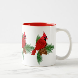 Christmas Cardinal Holiday coffee mug