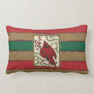 Christmas Cardinal Monogram Lumbar Pillow