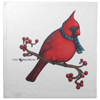 Christmas Cardinal Napkin