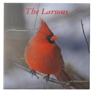 Christmas Cardinal Tile