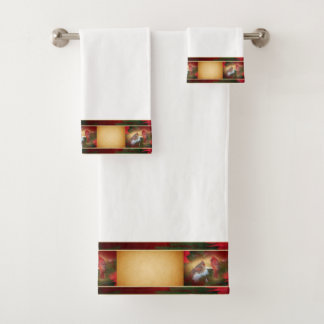 Christmas Cardinals Bath Towel Set